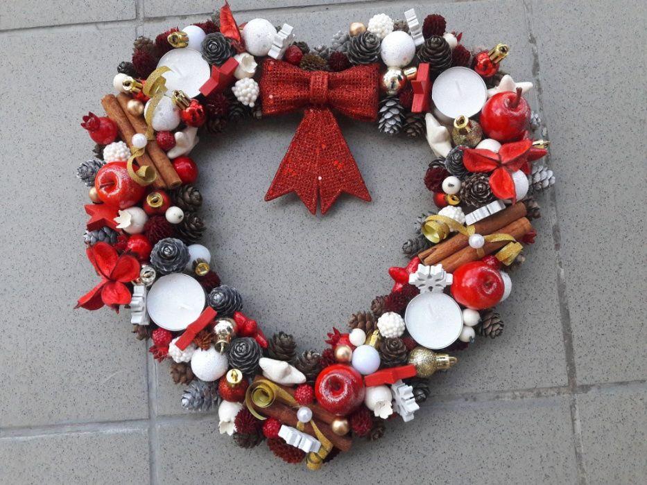 Stroik świąteczny adwentowy Boże Narodzenie dekoracja domu Lubin - image 1