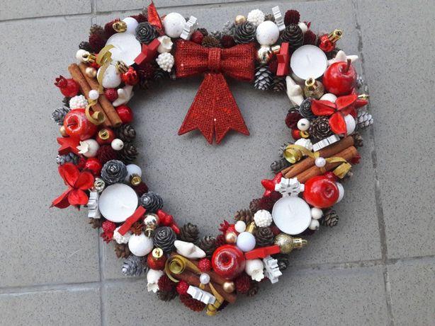 Stroik świąteczny adwentowy Boże Narodzenie dekoracja domu
