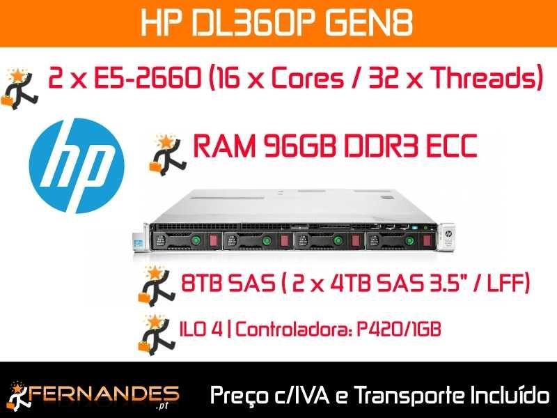 Servidor c/ 32 x Cores + 96GB RAM + 8TB SAS de Disco Rígido