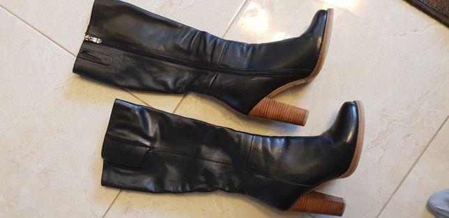 Зимові чоботи шкіра