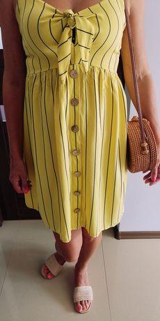 Nowa żółta letnia sukienka w rozmiarze 40
