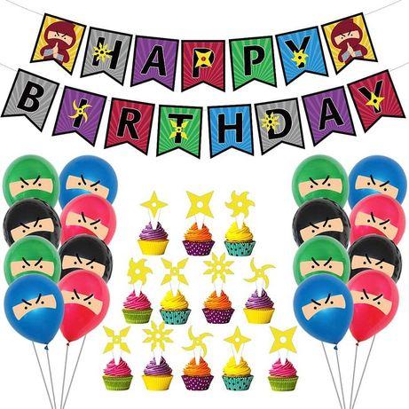 Kit decoração festa aniversário Lego Ninjago Balões - portes grátis