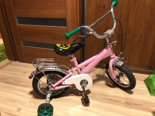 Rower rowerek dziecięcy dziewczęcy dziewczynka różowy