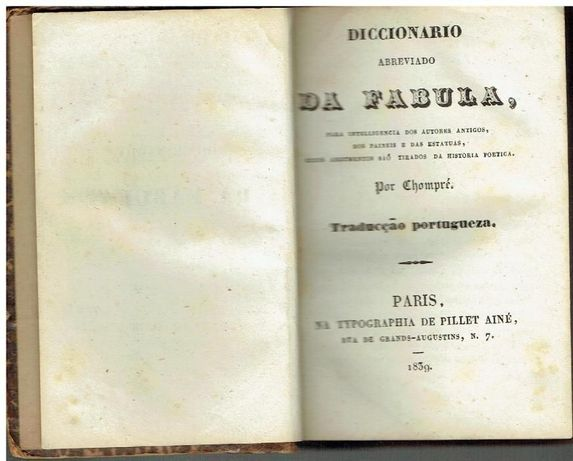 5774 - Diccionário Abreviado da Fabula - Chompré