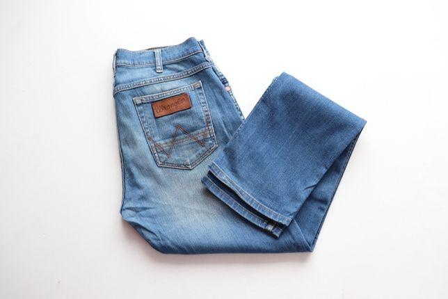 Męskie spodnie jeansy Wrangler Greensboro W31 L34 slim fit idealne