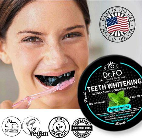 Порошок отбеливающий для зубов, черный