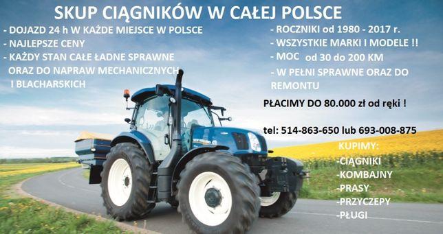 SKUP CIĄGNIKÓW MASZYN ROLNICZYCH kujawsko pomorskie - Cała Polska
