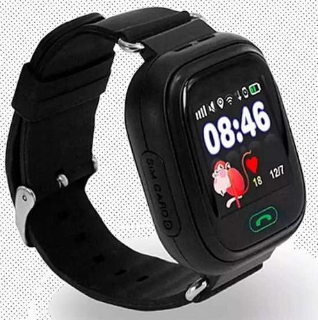 Детские умные часы UWatch Q90  gps контроль звонки сообщения sos wi-fi