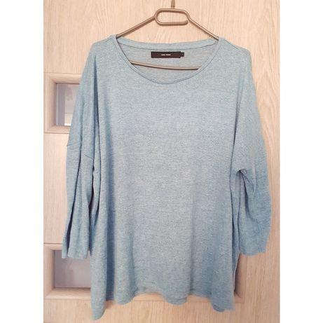 Sweterek damski plus size 46 48 xl xxl blue blezer narzutka oversize