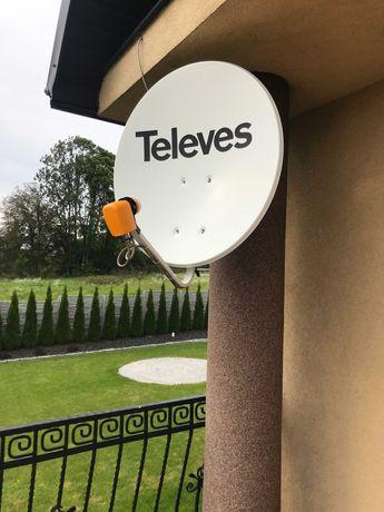 Montaż ustawienie anten satelitarnych i DVBT Kielce