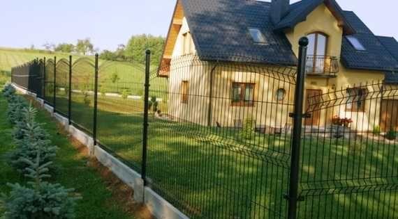 Ogrodzenie panelowe łukowe podmurówka montaż panel łuk brama
