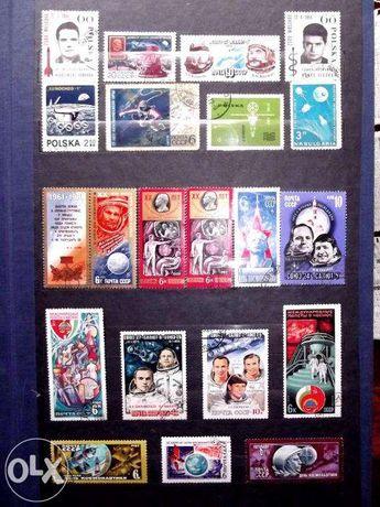 Kolekcja znaczków z klaserem