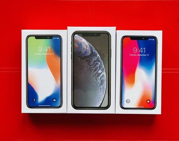 НОВЫЙ iPhone 8+ X XR XS Black Red Rose Gold Blue Silver White Yellow