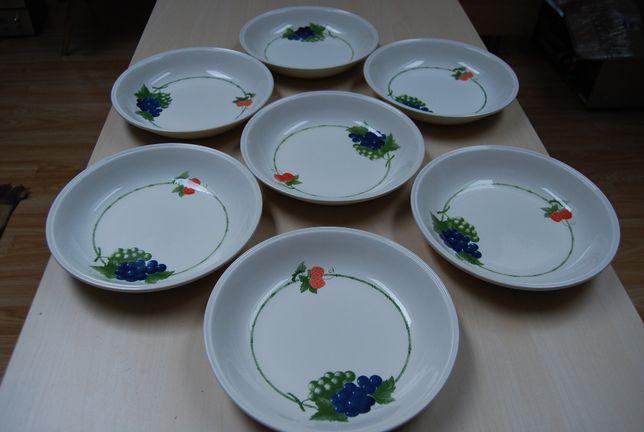 7 ceramicznych talerzy głębokich Biltons England