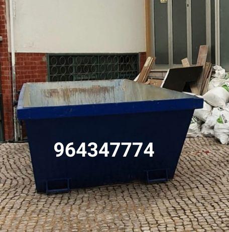 ALUGAMOS CONTENTORES para todo o tipo de entulho e resíduos urbanos