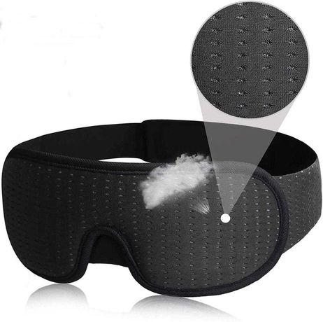 Маска для сна Silenta 3D Breath Черная с дышащим эффектом