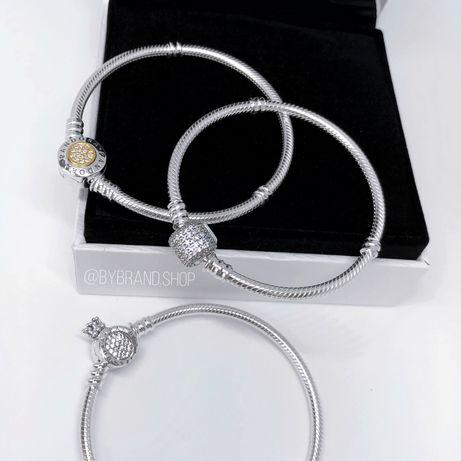 Браслети Пандора браслет Pandora серебро срібло 1:1 оригинал