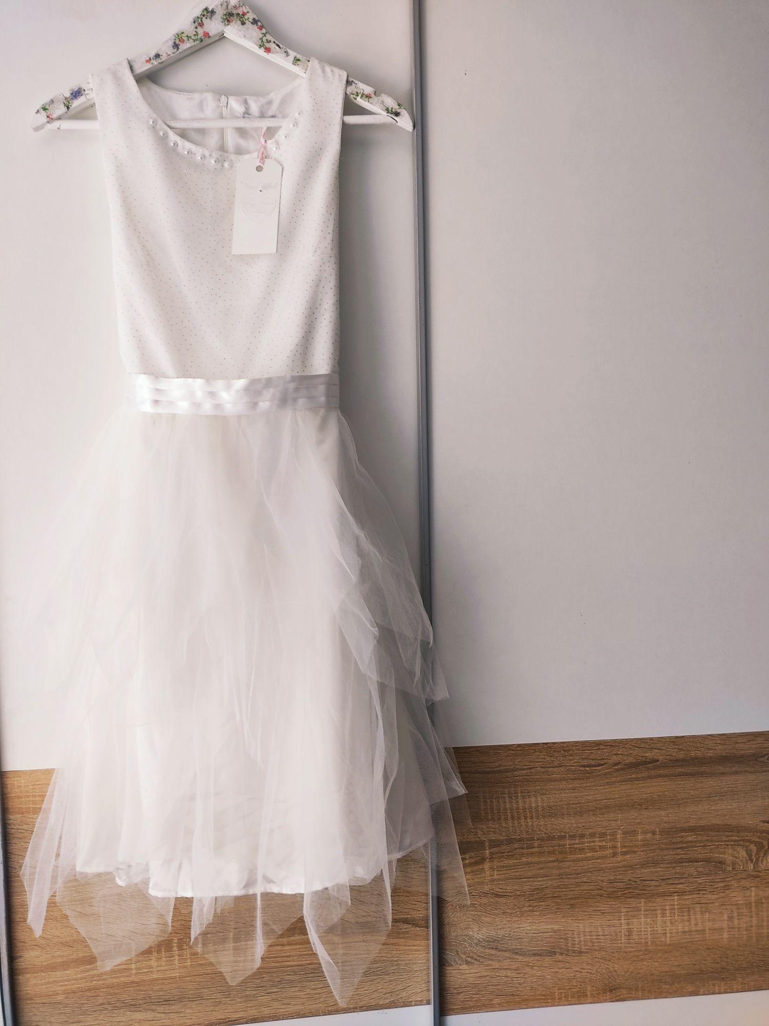Sukienka nowa Cool Club 164 170 wesele tiul biała