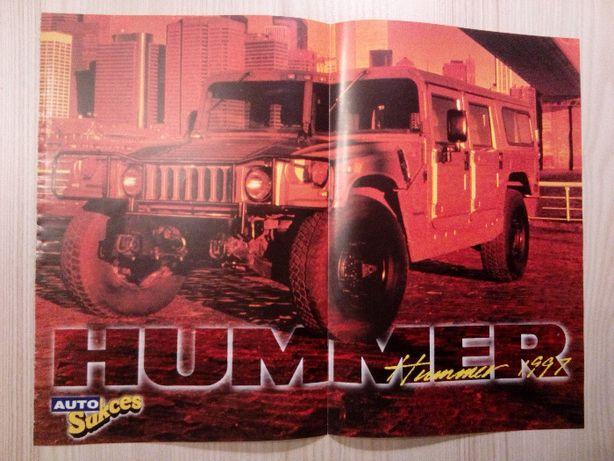 Plakat Poster AM General Hummer H1 28,5cm x 38cm Terenowe 4x4 4WD Cars