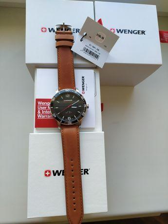 Прекрасный подарок мужчине, стильные часы WENGER, ОРИГИНАЛ