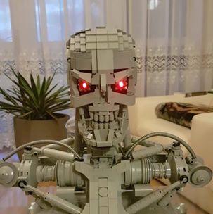Lego MOC - Popiersie Terminatora T-800 nowe