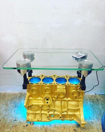 Стол из блока двигателя