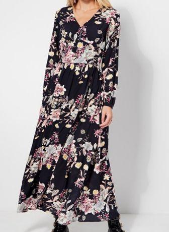 Vestido comprido florido