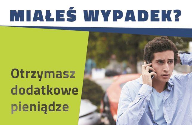 DOJAZD do klienta Z GOTÓWKĄ dopłaty do odszkodowań Poznań skup szkód