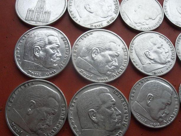 Отличный Набор монет Марки Свастика 3 рейх Германия серебро