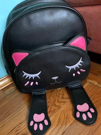 Рюкзак кошечка чёрная
