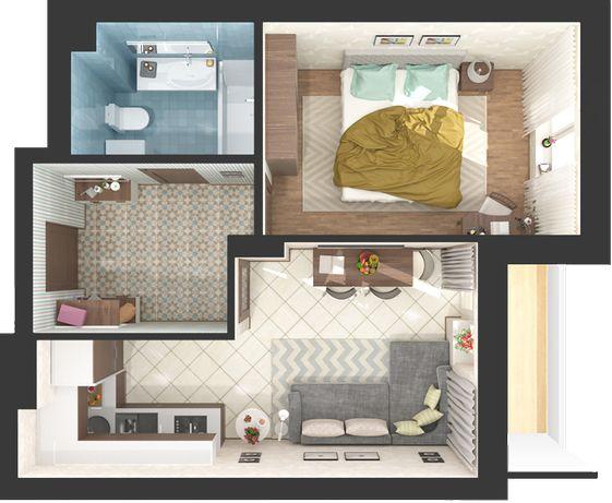 Дом сдан в эксплуатацию, 1-но комнатная квартира