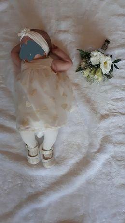 Ubranko+ buciki do chrztu dla dziewczynki