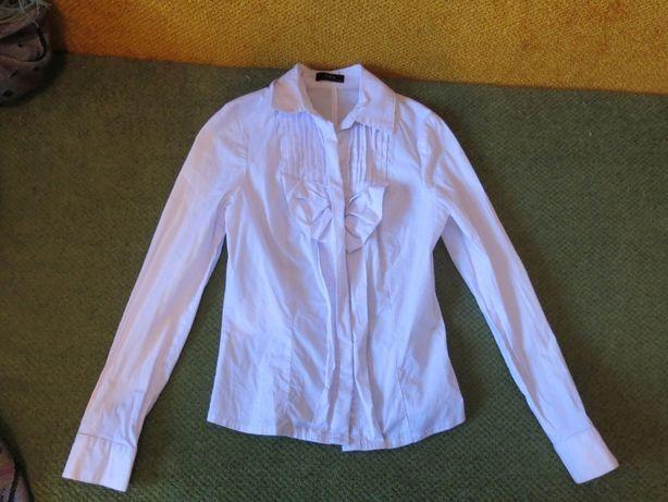 Блузка белая с длинным рукавом 10-13 лет ( 146-158)