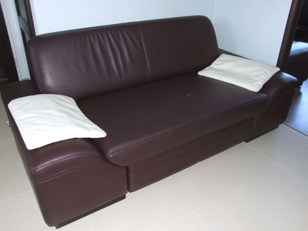 sofa firmy ETAP , naturalna skóra, zadbana