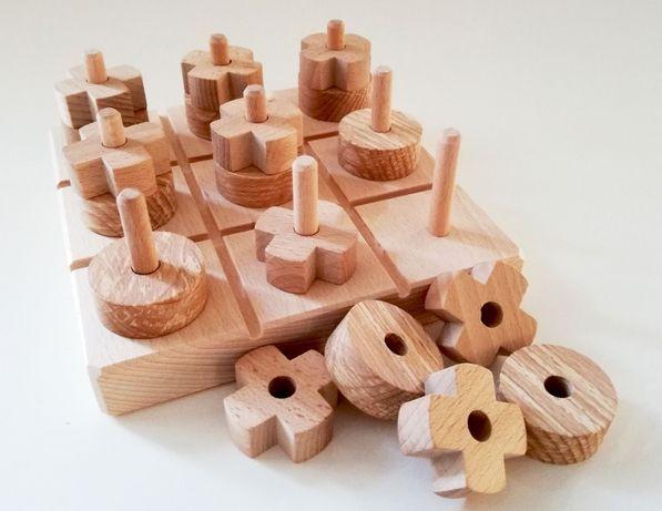 Drewniana gra planszowa KÓŁKO I KRZYŻYK - prezent dla dziecka