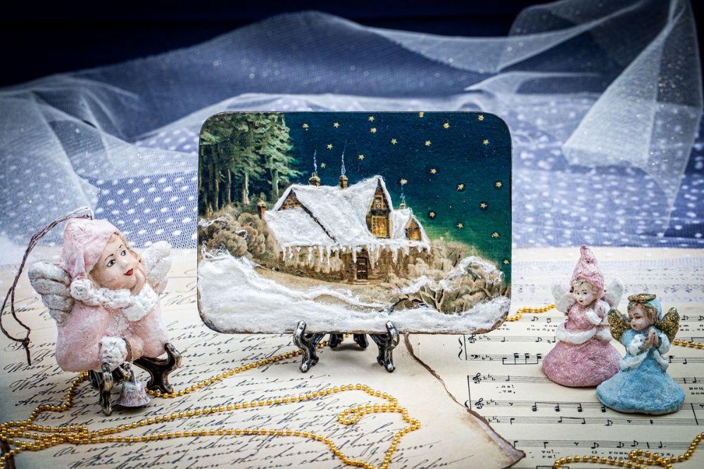 Новогодний домик новогоднее украшение панно декор сувенир подарок Мелитополь - изображение 1