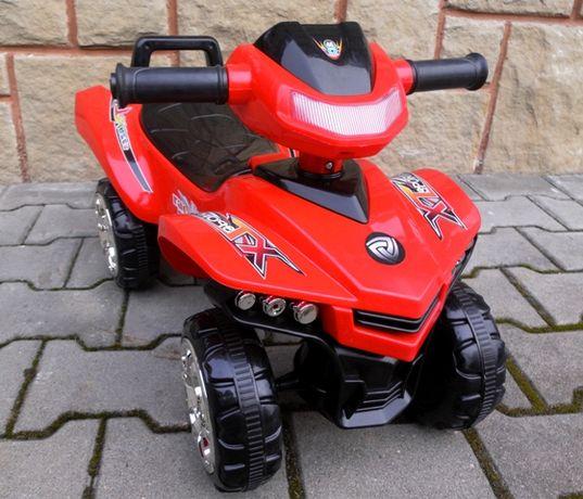 Jeździk Quad dla dzieci światła dźwieki klakson otwierane siedzonko