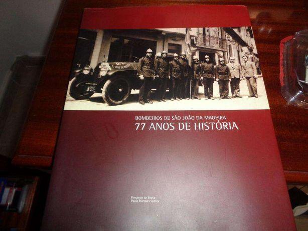 Livro Bombeiros S.João da Madeira 210 Páginas