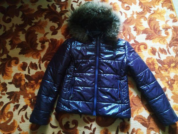 Зимняя куртка Moncler с натуральным мехом