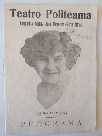 Revista / Programa do Teatro Politeama