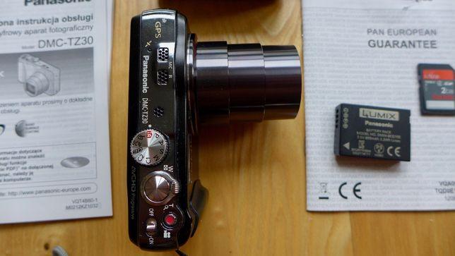 Aparat fotograficzny Panasonic Lumix DMC-TZ30 gratisy pamięć +bateria
