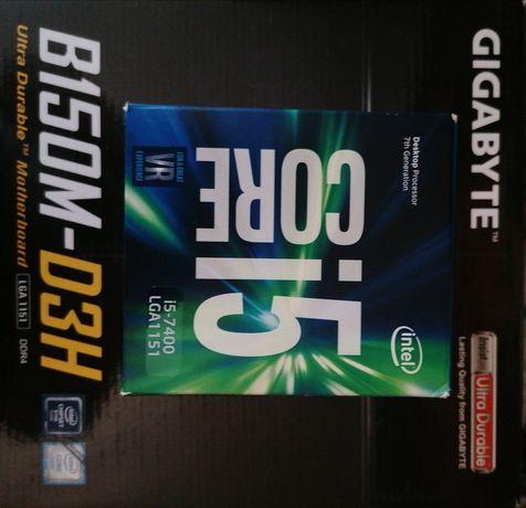 Zestaw Intel Core I5 - 7400 + Płyta główna + pamięć ram