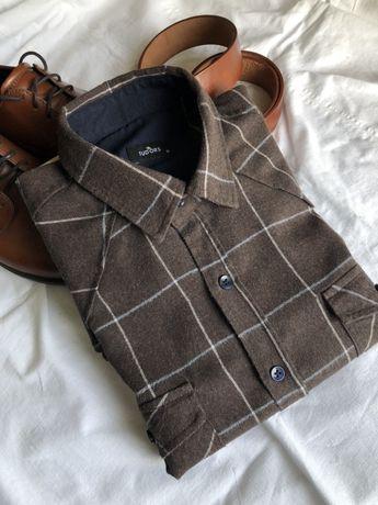 Сорочка чоловіча Рубашка мужская фланель
