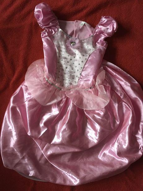 Piękna sukienka balowa księżniczki Toys Rus roz. 3-5 lat (karnawał)