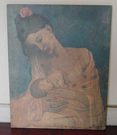 """Quadro réplica de PICASSO (Anos 70) """"Maternidade"""" (1905) período rosa"""