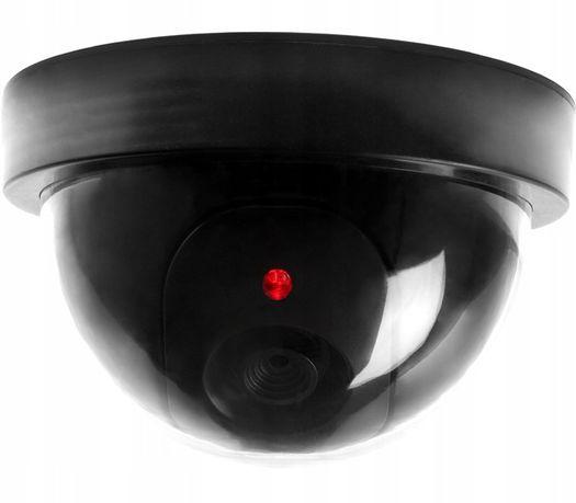 ATRAPA KAMERY PRZEMYSŁOWEJ kamera kopułka z czerwoną diodą