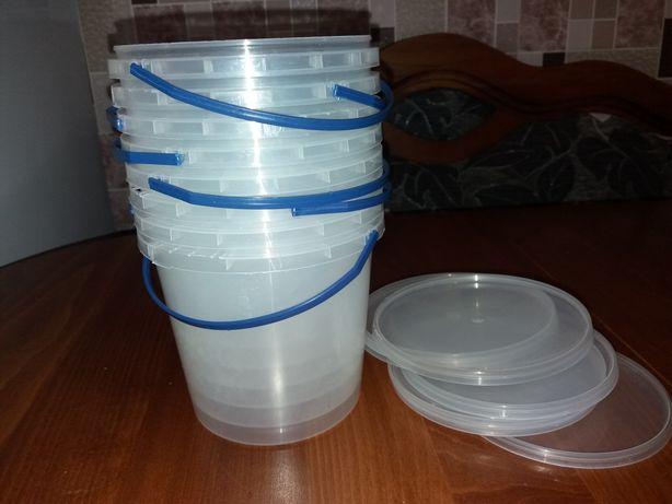 Відро,контейнер пластиковий харчовий з кришкою та ручкою.Тара для меда
