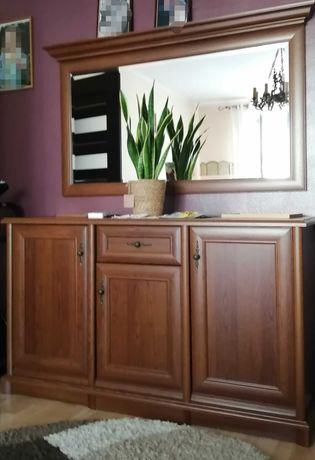 Zestaw mebli salonowych meble komoda szafa rtv kominek salon lustro