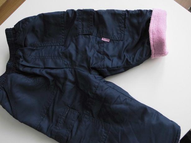 Spodnie ocieplane 80 cm.