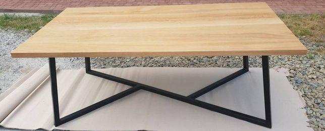 Stół metalowy , blat drewniany , Industrial, wybor rozmiaru i koloru